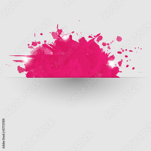 Papiers peints Forme Abstract background with pink paint splashes.