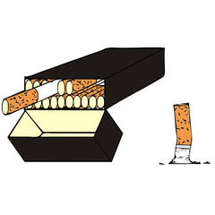 vector drawing of a cigarette