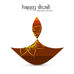 Beautiful celebration happy diwali background illustration