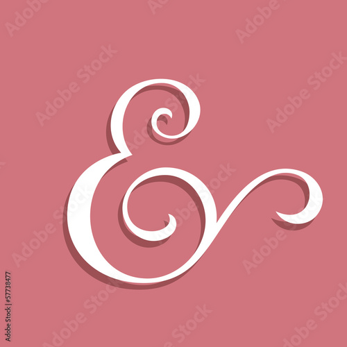 Wedding text decoration ampersand
