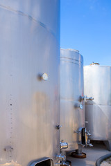 Fermentation tanks vessels in stainless steel