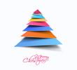 Modern abstract christmas tree Design