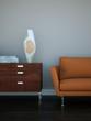 moderes orangenes Sofa