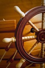 Wooden ship steering