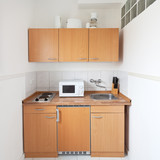 simple kitchen with furniture set