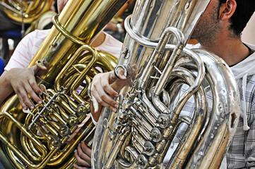 tubas, música, instrumentos musicales, sonidos