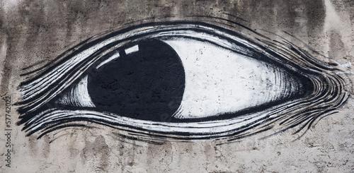 Occhio pittura su muro