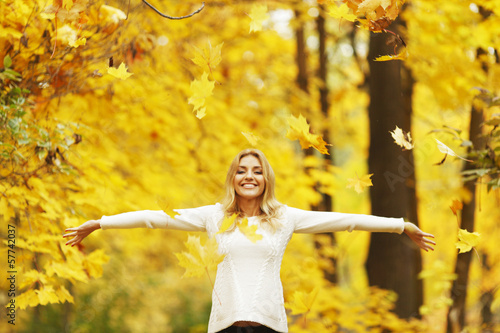 Autumn woman