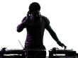 disc jockey man silhouette - 57742685