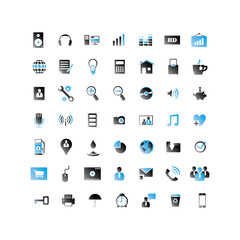 2 Color Web Icon set