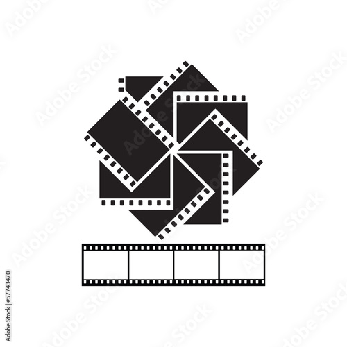 Symbol - black and white film