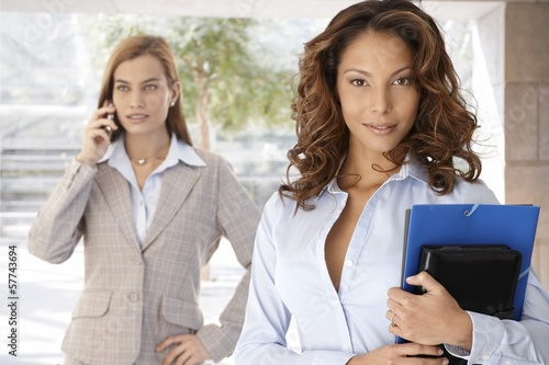 Portrait of attractive businesswoman