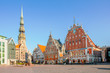 Town Hall Square in Riga, the capital of Latvia - 57743841