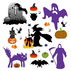 Set of halloween design elements.