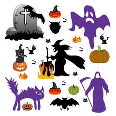 Set of halloween design elements.