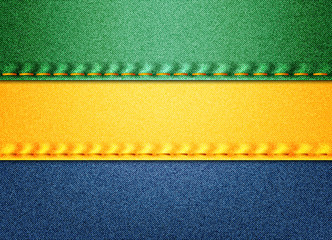 Denim Gabon flag