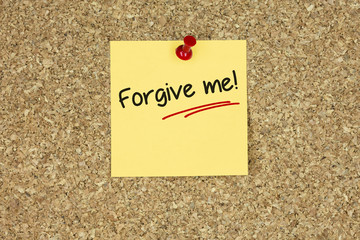 Forgive me! Cork board