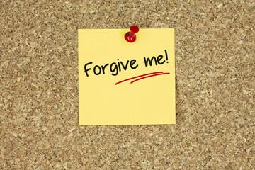 Forgive me! Cork board