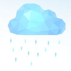polygonal cloud. Vector illustration