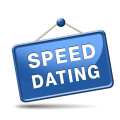 speed dating sign