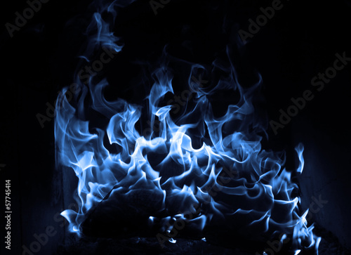 In de dag Vuur / Vlam Blue flame