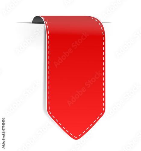 Schild Pfeil rot