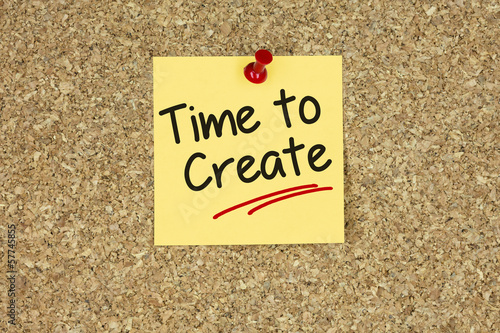 Time create. Cork board