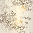 Wedding vector background in vintage style