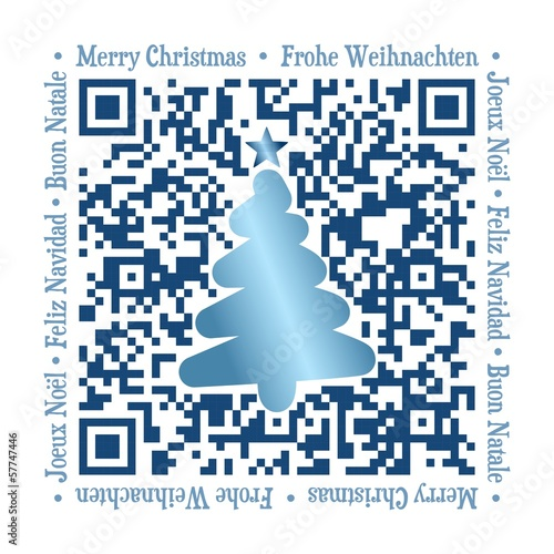QR Code - Christmas international blue
