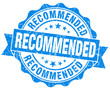 Recommended grunge round blue retro style seal
