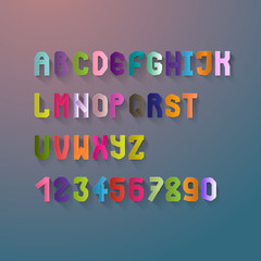 Alphabet Letters And Numbers Set - Isolated
