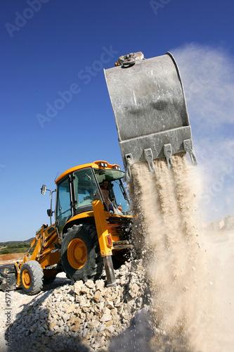 Zdjęcia na płótnie, fototapety, obrazy : engin de chantier  en action