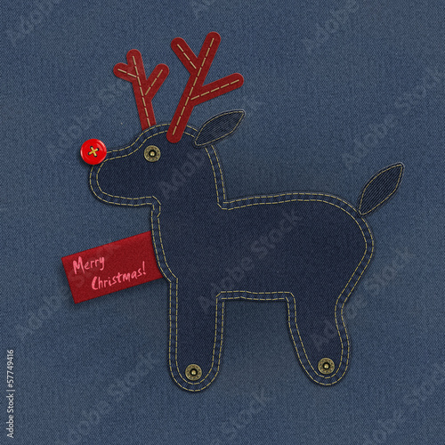 Denim Christmas reindeer