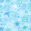 seamless pattern Christmas Figures