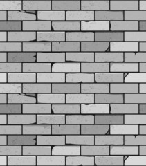 Vector white brick wall seamless background
