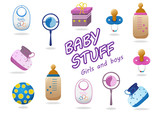 Baby Stuff Icons - Isolated On White Background