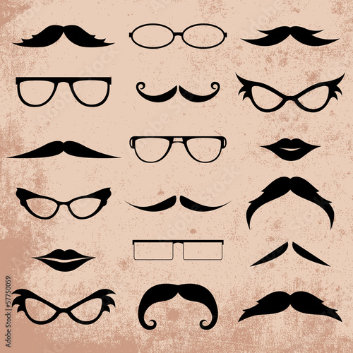 Mustaches And Eyeglasses