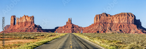 Panoramic view of Road To Monument Valley