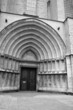 The entrance of cathedral in Girona.