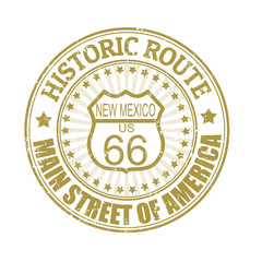 Historic Route 66, New Mexico stamp