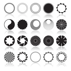 Abstract Circular Design Elements