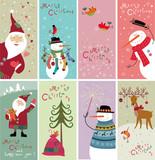 Fototapety Set of Christmas banners