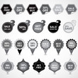 Selling Stickers And Labels - Isolated On Gray Background