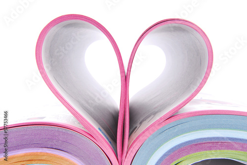 magazine catalog folded heart