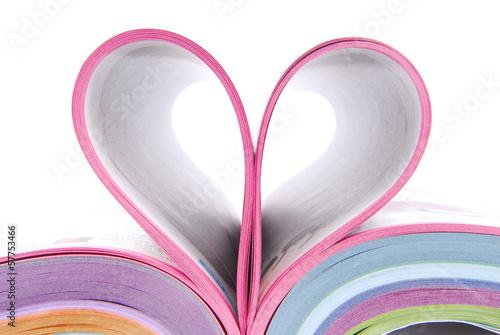 magazine catalog folded heart