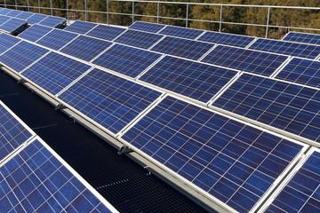 panneaux solaires détail