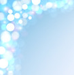 Festive lights on a blue background.