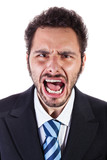 shouting businessman