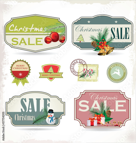 A set of Christmas design elements