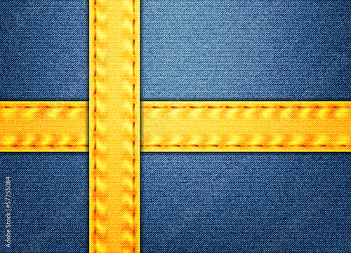 Denim Sweden flag